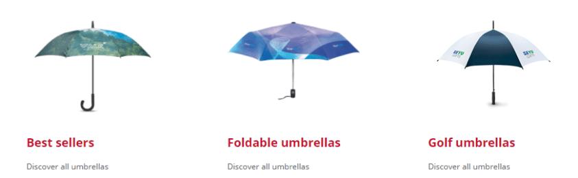 Custom made paraplu's