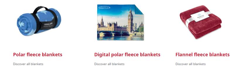 Custom made fleece dekens