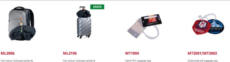 Custom made bagagelabels