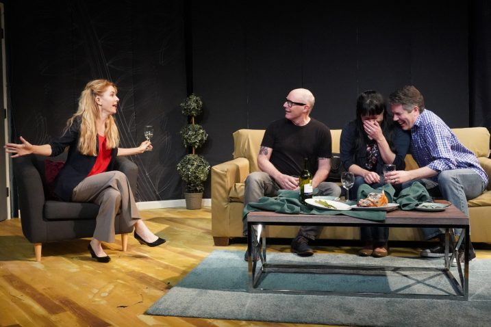 The couples make a plan (Hilary Hesse, Malcolm Rodgers, Karen Offereins, Matt Weimer)