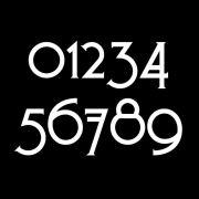 Craftsman Style Mailbox Numbers Sample