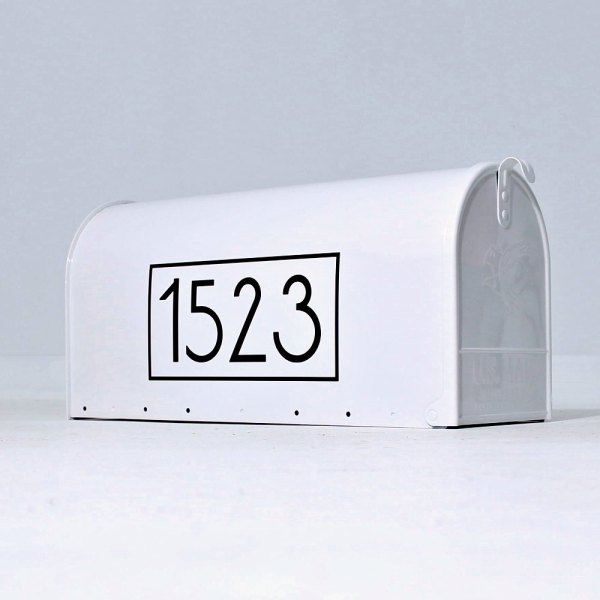Anson Mailbox Numbers Black