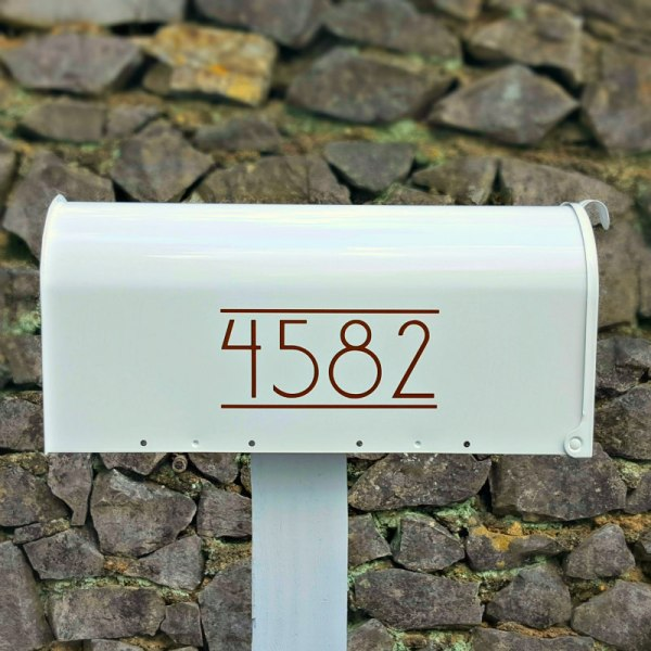 Anson Mailbox Numbers Copper