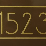 Anson Mailbox Numbers Gold