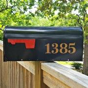 Antiqua Mailbox Numbers Copper