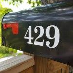 Antiqua Mailbox numbers white