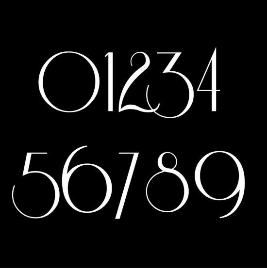 Art Nouveau Number sample