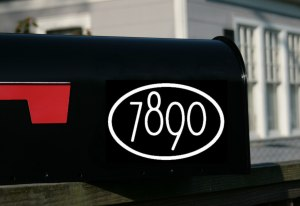 Modern Mailbox Numbers with border