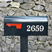 Chatelaine Mailbox Numbers White