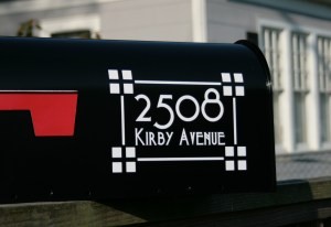 Craftsman Style Full Address Mailbox Numbers