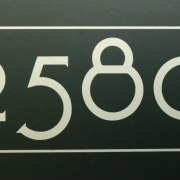 Craftsman Mailbox Numbers Silver