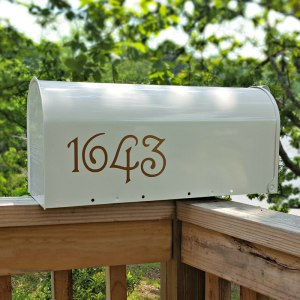 Guttenberg Mailbox Numbers Copper