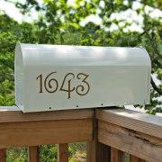 Guttenberg Mailbox Numbers Copper
