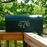 Guttenburg Mailbox Numbers Silver