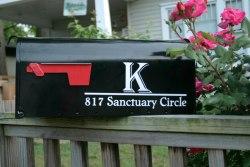 Monogram Mailbox Numbers