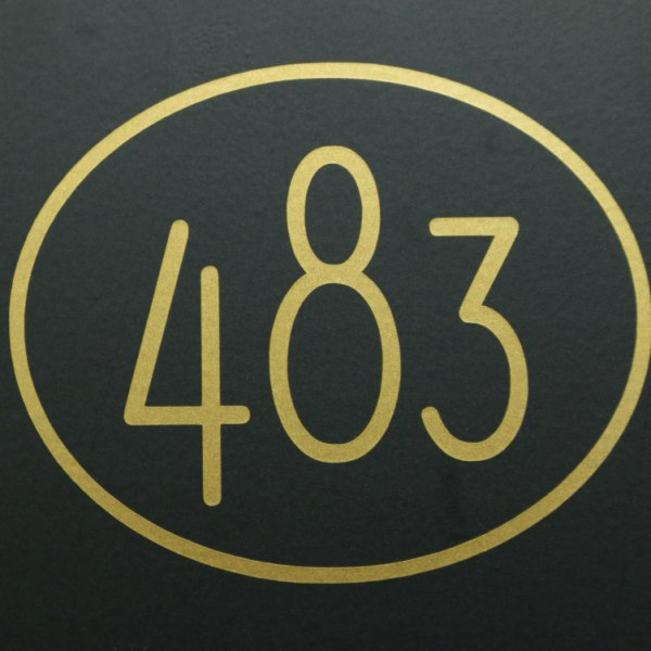 Stylized Modern Mailbox numbers with border