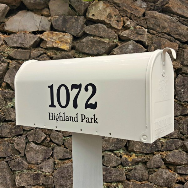 Chatelaine Address Decals Black