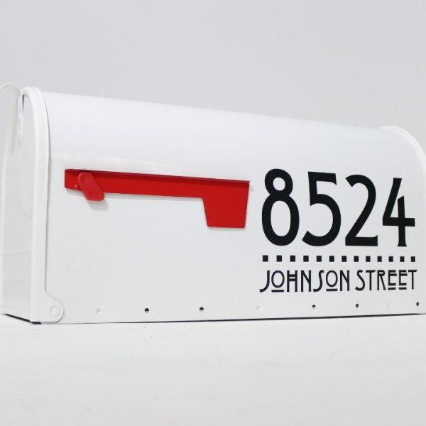 Craftsman full address mailbox decals black