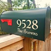 Adhesive mailbox numbers and letters