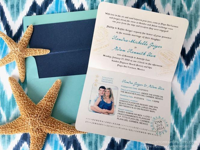 Beachy Tropical Mexico Destination Wedding Passport