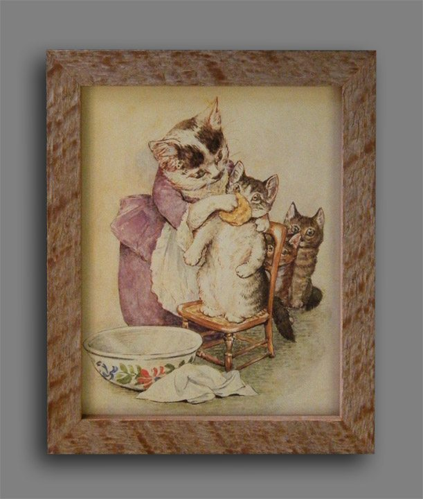 Mama Cat Vintage Poster