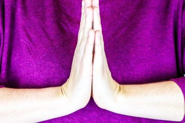 Practice anjali mudra to show gratitude.