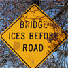 Bridge Ices Before Road Sign