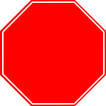 Octagon Shaped Road Sign