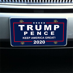 Trump and Pence 2020 Front License Plate