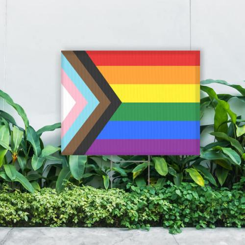 pride flag yard signs