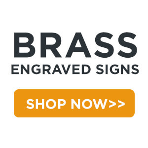 brass engraved signs shop now