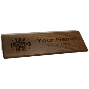 engraved wooden desk wedge