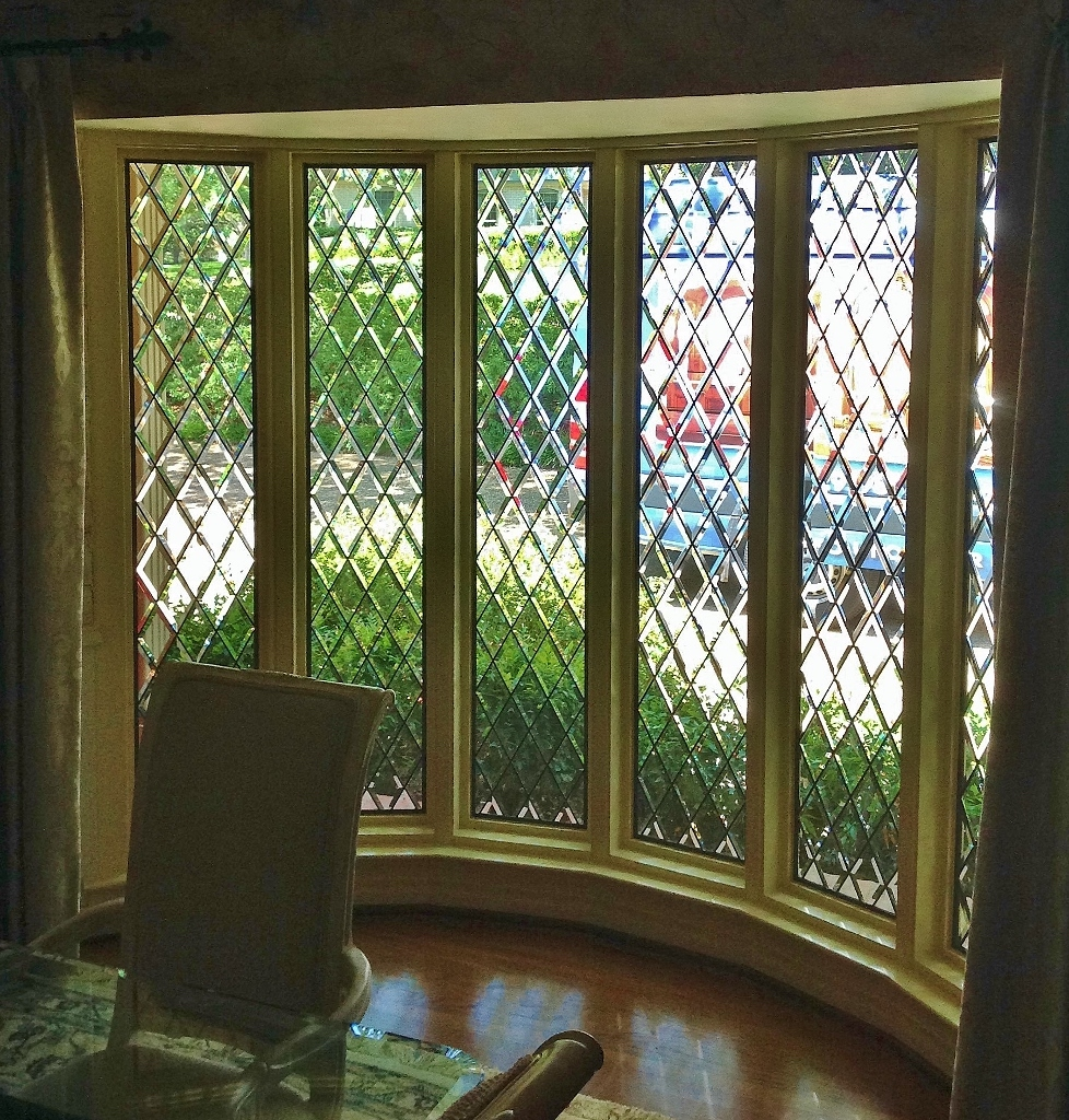 Sidelight Stained Glass in living room