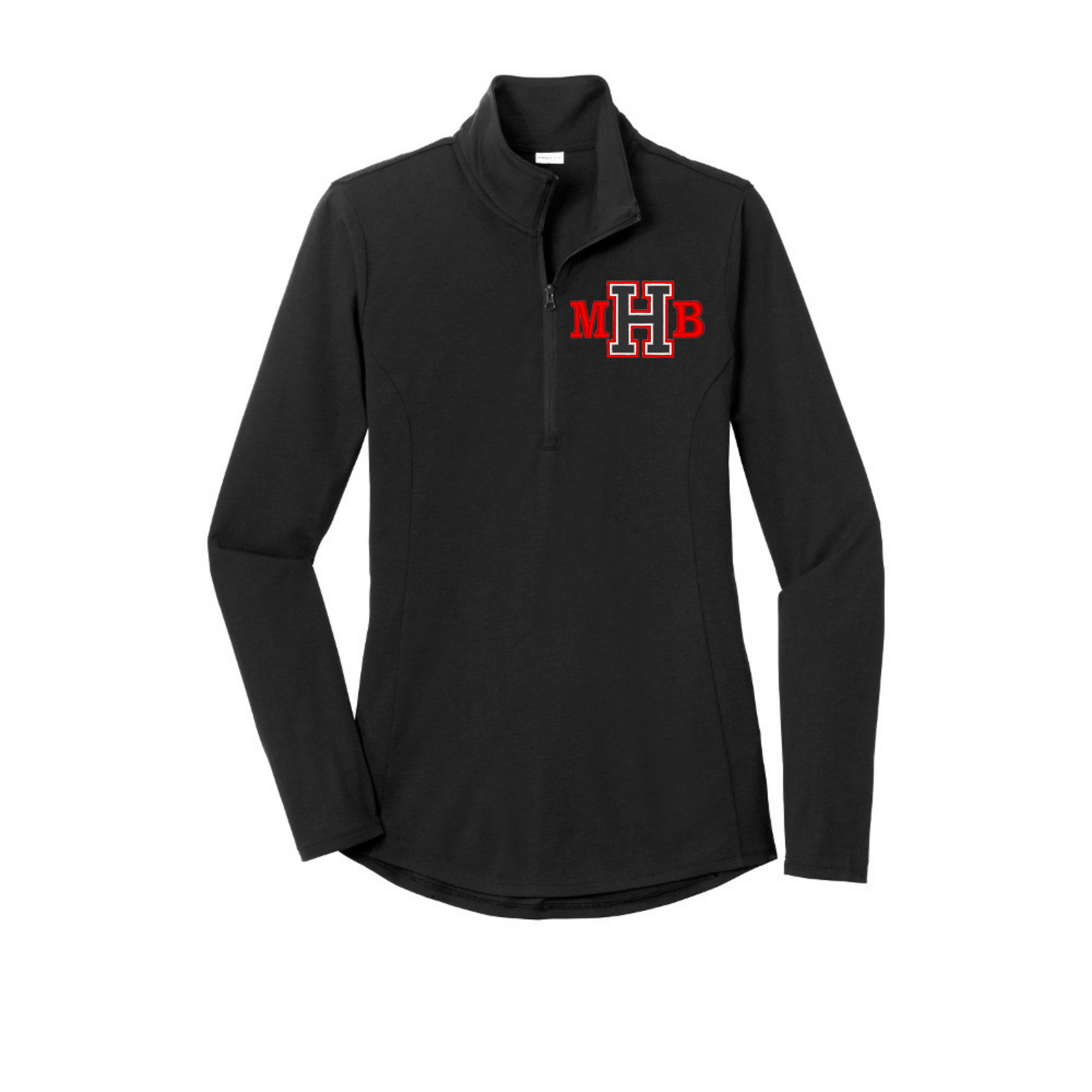 Ladies 1/4 Zip light weight pull over