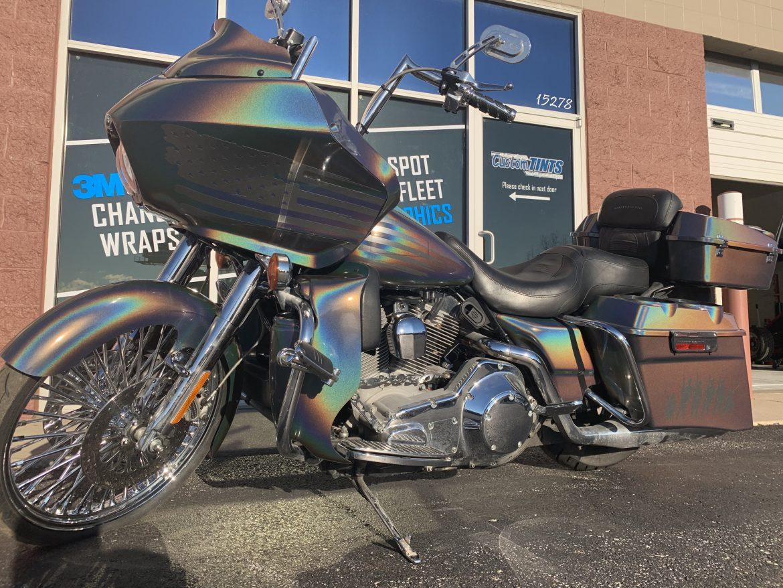 motorcycle wrap harley road glide 3m