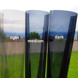 Window Tint Fly Tying Capes Shade Comparison - (Light-Medium-Dark)