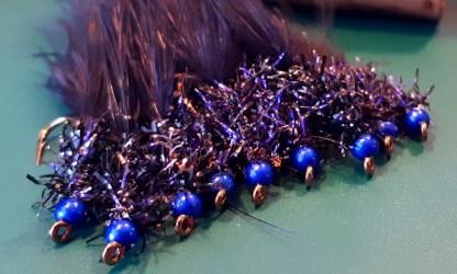 UV Straggle Leech - Black & Blue