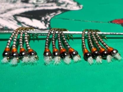 Hot Spot Grey Boy Chironomid Pupa Fly Pattern