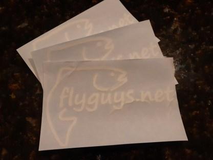 flyguys.net Fish Decal - White