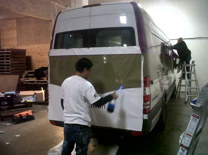 Sprinter Van Wrapping