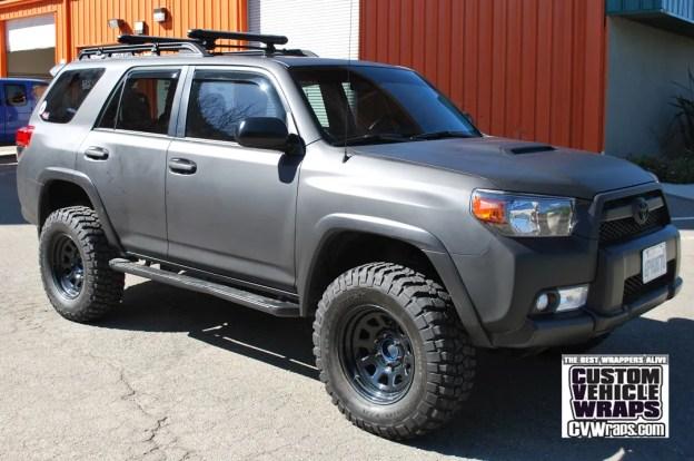 Blacked Out 4Runner >> Toyota 4Runner Avery Matte Black Wrap – Custom Vehicle Wraps
