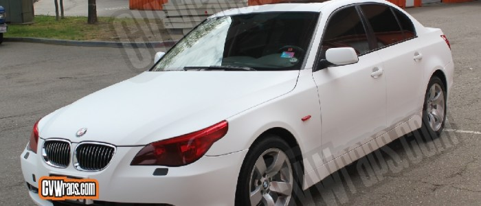 Matte White BMW 5 Series – Custom Wrapped
