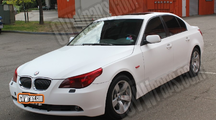Matte White BMW 5 Series – Custom Wrapped