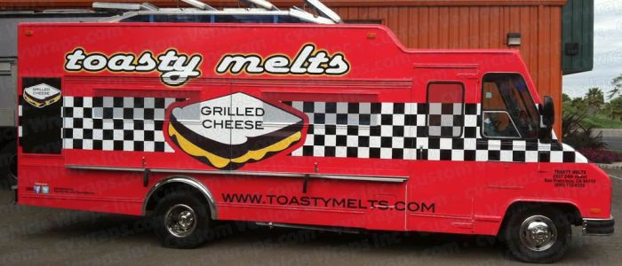 Food Truck Wrap for Toasty Melts