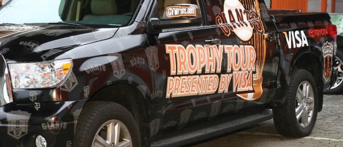 SF Giants Trophy Tour Truck Wrap