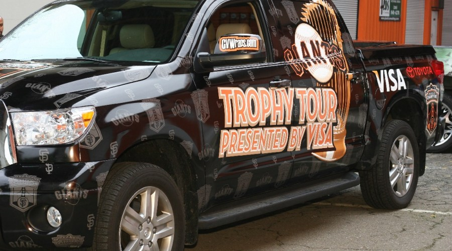 SF Giants Trophy Tour Truck Wrap