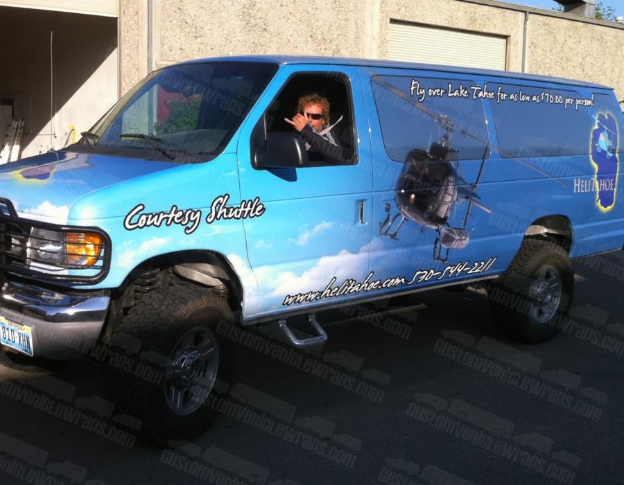 Shuttle Van - Driver Side Wrapped