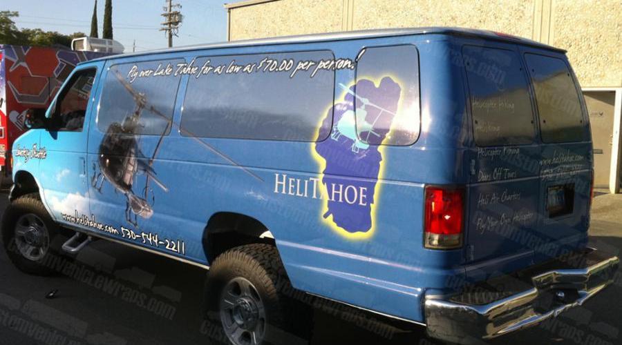 Shuttle Van - Passenger Side Wrapped