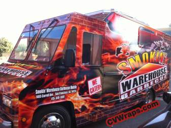 Smokin Warehouse BBW Food Truck Wrap