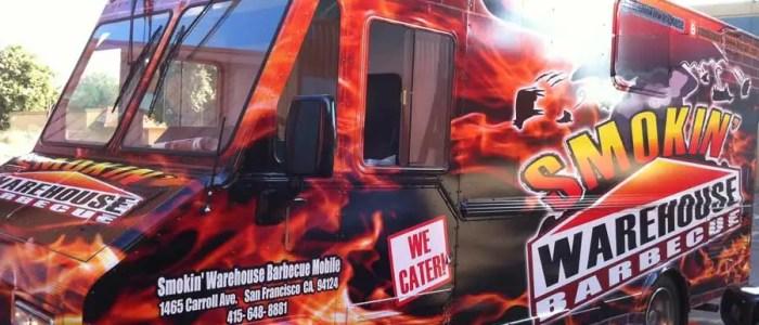 Smokin Warehouse BBQ Food Truck Wrap (SF)